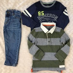 3T Boy Bundle Jeans Shirts Carter's OshKosh